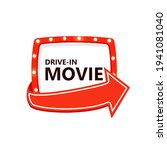 drive in movie icon. marquee... | Shutterstock .eps vector #1941081040