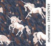 unicorn in the tall grass... | Shutterstock .eps vector #1941087919