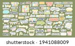 vector colorful set with cute...   Shutterstock .eps vector #1941088009