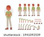 little boy character... | Shutterstock .eps vector #1941092539