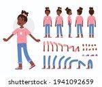 little girl character... | Shutterstock .eps vector #1941092659
