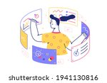 girl busy with documents vector ... | Shutterstock .eps vector #1941130816