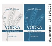collection of vodka labels with ... | Shutterstock .eps vector #1941141226