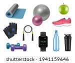 realistic fitness equipment.... | Shutterstock .eps vector #1941159646