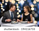restaurant  couple and holiday... | Shutterstock . vector #194116733