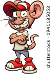 cartoon mouse with crossed arm... | Shutterstock .eps vector #1941185053