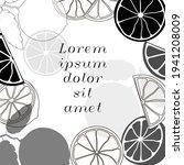 citrus  banner design template. ... | Shutterstock .eps vector #1941208009