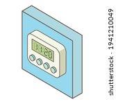 digital timer icon. isometric...   Shutterstock .eps vector #1941210049