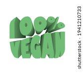 100  vegan element. good for... | Shutterstock .eps vector #1941210733