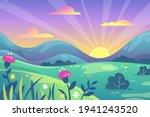 rural landscape background.... | Shutterstock .eps vector #1941243520