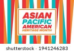 asian pacific american heritage ... | Shutterstock .eps vector #1941246283