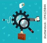 business flat icons. teamwork...   Shutterstock .eps vector #194125844