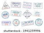 passport travel vector stamps...   Shutterstock .eps vector #1941259996