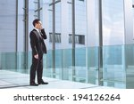 businessman talking by phone in ... | Shutterstock . vector #194126264