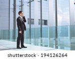 businessman talking by phone in ... | Shutterstock . vector #194126264