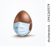 mask with chocolate egg... | Shutterstock .eps vector #1941265579