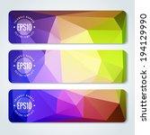website header or banner set | Shutterstock .eps vector #194129990