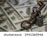 Iron Lock Key On The Group Of...