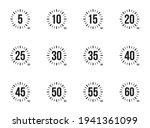 stopwatch icons set 5  10  15 ... | Shutterstock .eps vector #1941361099