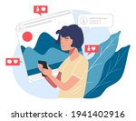 young character using... | Shutterstock .eps vector #1941402916