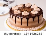 Mocha Cake With Overflowing...