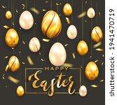 golden lettering happy easter...   Shutterstock .eps vector #1941470719