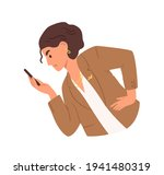 unhappy woman looking at... | Shutterstock .eps vector #1941480319