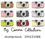 vintage cameras collection | Shutterstock .eps vector #194151488