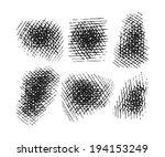 hatching elements set. vector... | Shutterstock .eps vector #194153249