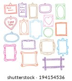 hand drawn picture frames... | Shutterstock .eps vector #194154536