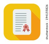 diploma. single color flat icon.... | Shutterstock .eps vector #194155826