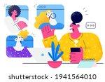 teleconference  distant work ...   Shutterstock .eps vector #1941564010