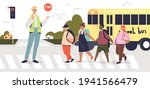 man holding stop sign while...   Shutterstock .eps vector #1941566479