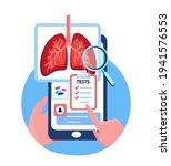 online touchscreen pulmonology...   Shutterstock .eps vector #1941576553