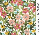 a dense meadow of wildflowers... | Shutterstock .eps vector #1941589066
