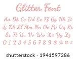 rose gold glitter font in white ... | Shutterstock .eps vector #1941597286