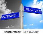 internet addiction concept  ... | Shutterstock . vector #194160209