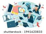 virtual graduation ceremony...   Shutterstock .eps vector #1941620833