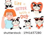 collection of cute dogs  french ...   Shutterstock .eps vector #1941657280