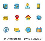 set of contact icon collection... | Shutterstock .eps vector #1941660289