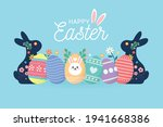 happy easter day background... | Shutterstock .eps vector #1941668386