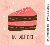 no diet day hand lettering and... | Shutterstock .eps vector #1941681889