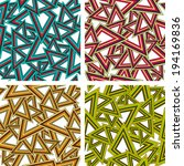 set of geometric seamless... | Shutterstock .eps vector #194169836