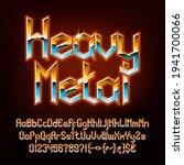 heavy metal alphabet font.... | Shutterstock .eps vector #1941700066