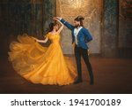 Loving Couple Is Dancing At...