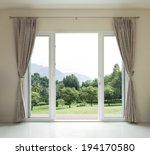 Opened Door   Green Garden View