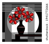 stylized still life with red... | Shutterstock .eps vector #1941772666