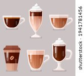 coffee icons  set vector... | Shutterstock .eps vector #1941781456