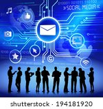 vector of business and social... | Shutterstock .eps vector #194181920