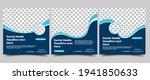 set of modern social media post ... | Shutterstock .eps vector #1941850633